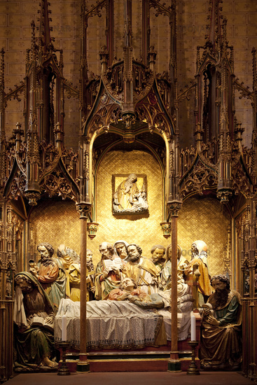 Maria-Schlaf-Altar, Gothic, Kaiserdom St. Bartholomaeus, Frankfurt am Main, Hesse, Germany, Europe