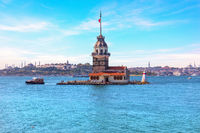 Maiden's Tower in the Bosphorus straight, Istanbul, Turkey