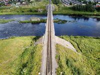 railway bridge over the river