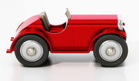 Vintage model car isolated on white background. 3D illustration