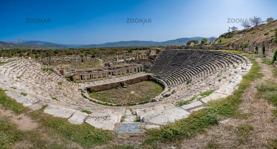 Theatre in Aphrodisias ancient city, Aydin, Turkey.