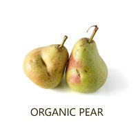 two organic not perfect pears isolated