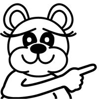 cute bear - pointing