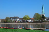Holzminden at Weser River,lower Saxony,Germany