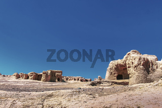 Ruins of the ancient earthen city of Jiaohe