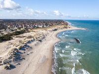 Liseleje Beach in North Zealand, Denmark