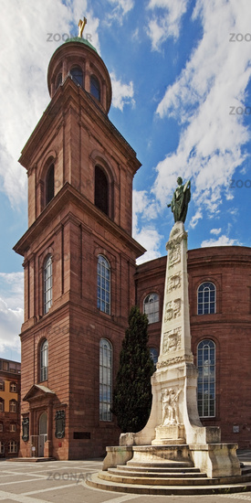 Unity monument, artist Friedrich Maximilian Hessemer, in front of Paulskirche, Frankfurt, Germany