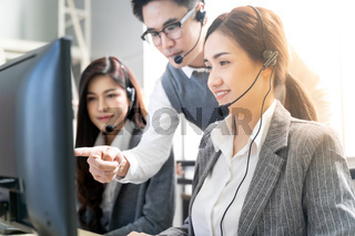 Call center supervisor teching