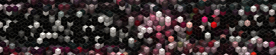 Abstract 3D cube panorama background design illustration
