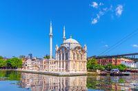 Famous Ortakoy Mosque near the Bosphorus Bridge, Istanbul, Turkey