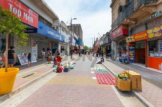 Argentina Cordoba shops and street vendors in San Martin street