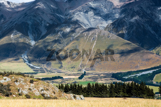 New Zealand countryside near the Rakia River