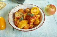 Italian  Baccala con patate