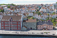 Aerial view of Stavanger in Norway. One of the most beautiful cities in Scandinavia