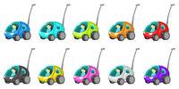 Tiny Antenna Cars Cartoon Design Element