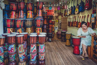 Instrument shop in Fenghuang Old Town