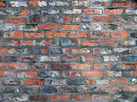 full frame image of an old weathered red brick wall