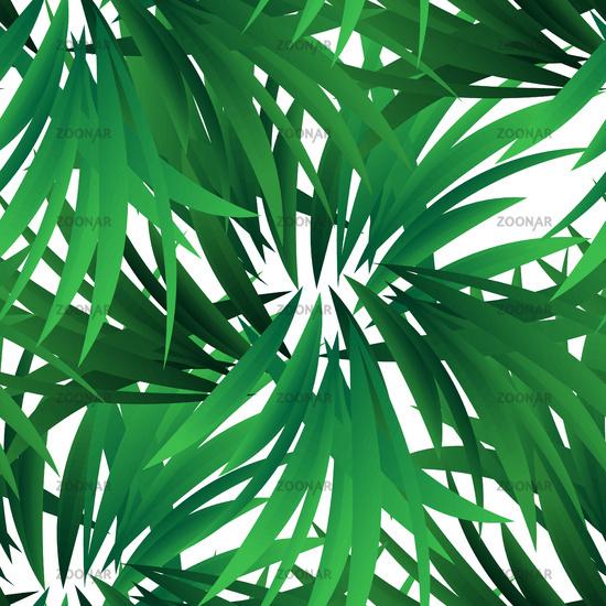 Exotic jungle wallpaper. Seamless vector floral pattern. Spring decoration. Pattern design. Beautiful seamless floral jungle pattern. Exotic green background. Summer tropical leaf