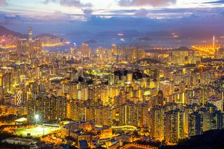 Hong Kong Skyline Kowloon