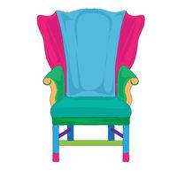 Postmodern Hepplewhite armchair doodle