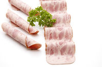 Ham sausage with parsley