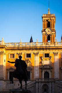 Equestrian statue of Marcus Aurelius on the Capitoline Square in Rome