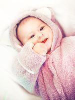 Portrait of a little cute baby