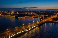 Peter and Paul Fortress at night