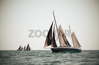Ketch under sails