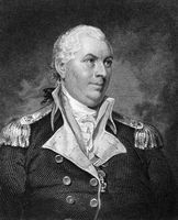 John Barry (1745-1803) on engraving from 1835. Officer in the Continental Navy during the American Revolutionary War. Engraved by J.B.Longacre and published in''National Portrait Gallery of Distinguished Americans Volume II''