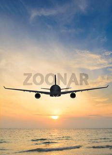 sunset airplane