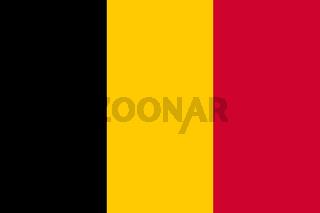 Belgium flag black yellow red tricolor background illustration