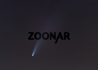 Comet Neowise in the night sky