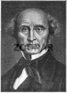 Portrait of John Stuart Mill - an English philosopher