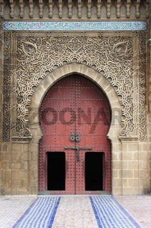 Entrance of the Mausoleum of Mouley Ismail in Meknes