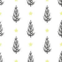 Seamless pattern Christmas tree