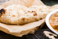 Garlic Naan, Indian flat bread