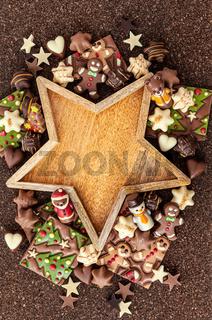 Leckere Schokolade zu Weihnachten