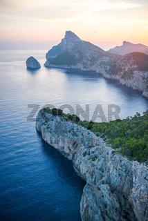 Sunrise over the sea in Majorca