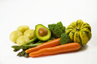 Vegables and Fruit for Salads or Soup Healthy Eating