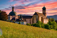The Benedictine Monastery of Saint Trudpert (Kloster Sankt Trudpert) of Muenstertal in the black forest