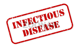 Infectious Disease Rubber Stamp Vector