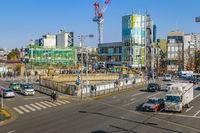 Urban Street Scene at Harajuku Zone, Tokyo, Japan