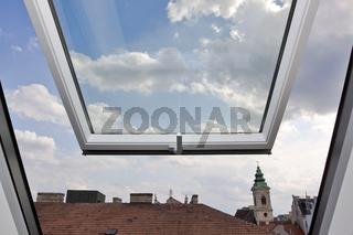 Open roof-top window