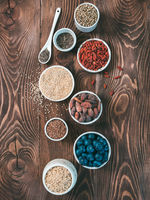 Various superfoods in small bowl