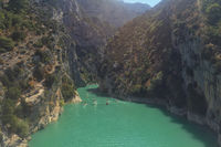 Gorges du Verdon , landscape in Provence,  France