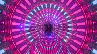 Cool rotating tunnel with neon particles 3d illustration background wallpaper artwork