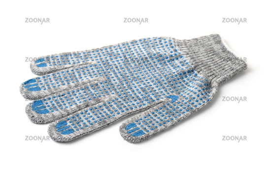 Single gray cotton knitted work glove