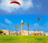 Picturesque red parachute -