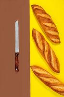 Artisan sourdough bread (baguettes).